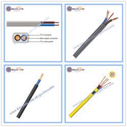 Câble en PVC de plat à lits jumeaux et câble de masse 2192y TPS 2 3 4 5 6 7 8 9 Core broche AWG Ruban bâtiment de liaison du fil électrique Fil de cuivre souple de la DPA et les prix de câble