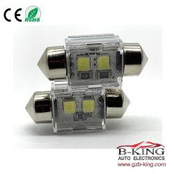 28mm 꽃줄 3030SMD 백색 LED 전구