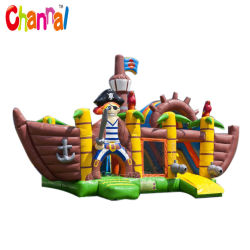 Château gonflable populaire Pirate Bouncer Combo cavalier gonflable bouncer