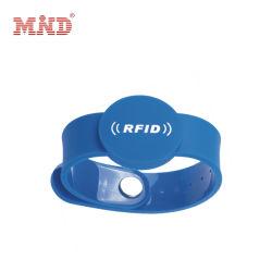 125 Manchet van de Spaander van identiteitskaart van de Armband Em4200 van het Silicone van de Markering RFID van kHz de Waterdichte