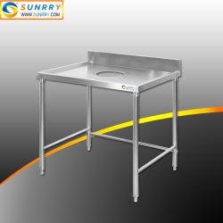 طاولة عمل رخيصة من الفولاذ الذي لا يصدأ طاولة تجميع المخلفات