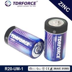 1.5Volt primaire zinc pile sèche carbone cellule (R20-D-UM1)