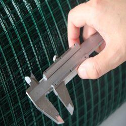 """3/4 """", 3/8의 """" 구멍 크기, 녹색 PVC에 의하여 입히는 용접된 철망사"""