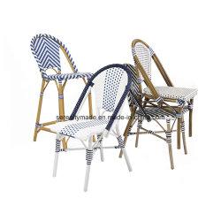 По-французски наращиваемые плетеной парижское бистро открытый алюминиевый обеденный стул