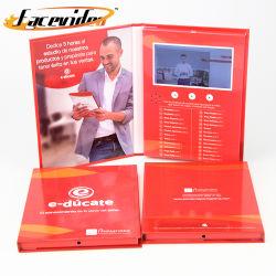 Facevideo Pantalla LCD de alta calidad de video en el folleto con regalos para empresas