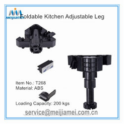 Tipo de golpe en los pies de la cocina de zócalo de la pierna ajustable 90-180mm tipo plegable de carga pesados