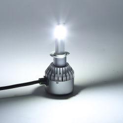لمبة المصباح الأمامي LED 4300K 6000K مزدوجة الألوان H4
