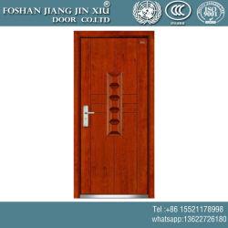 Solo a ras de hierro de acero de madera de plástico exterior de la puerta de seguridad