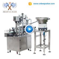 満ちる自動液体のびんキャッピングの分類機械を挿入する