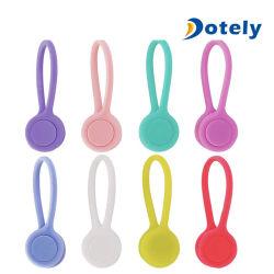 Enrouleur de cordon des écouteurs casque magnétique Wrap Titulaire d'attache de câble de l'organiseur