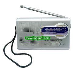 小型ポケットAM FM緊急の小さい2つのバンドラジオ