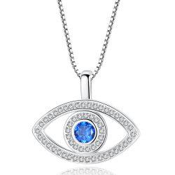 Venda por grosso de venda superior simples Vogue Jóias de Oferta Romântica mal do Olho Jóias Colar Diamante Pendente