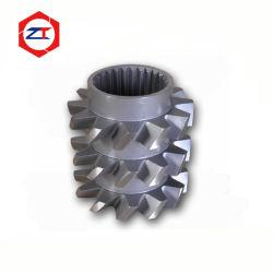 Nueva maquinaria de plástico piezas de repuesto extrusionadora de husillo doble paralelo el segmento de tornillo