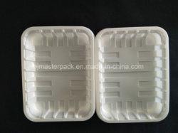 PLA 명확한 냉동 식품 방벽 지도 쟁반