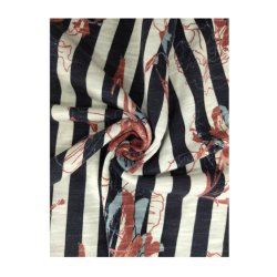 Usine de gros de 50%50%Coton Viscose Slub jersey simple fantaisie Kintted Tissu d'impression
