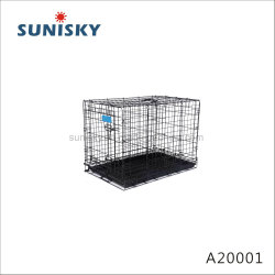 Una mascota Jaulas de alambre20001Casa para perros y gatos animales portadores de hierro plegable jaula jaula plegable perreras embarque lugares