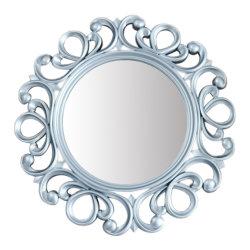 Poliuretano decorativos de pared espejo redondo de marco para la decoración del hogar