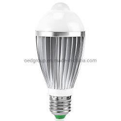 E27 GU10 B22 E14 LED do sensor de movimento de alumínio mundo 7W