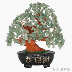 خضراء [دونغلينغ] [هوم وفّيس] مزخرف [فنغشوي] [ريكي] حجر كريم بلورة شجرة