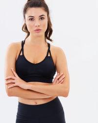 OEM & ODM Bustehouder van de Sporten van de Dames van de Yoga van Strappy van de Fitness de Zwarte Sexy