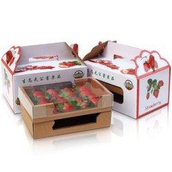 Gewölbter Papierkasten-/Wachs-wasserdichter Karton für das Erdbeere-Gemüse-/Frucht-Verpacken