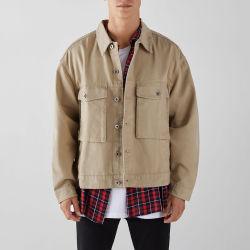 WorkwearのOvershirtのポケットが付いている100%年の綿の適当なキャンバスのジャケット