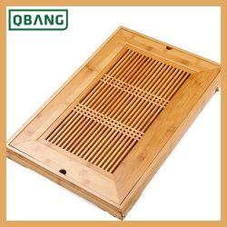 Umweltfreundlicher Merkmals-Kaffee u. Tee tragen Tellersegment-natürlichen Bambus