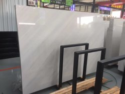 De Witte Marmeren/Opgepoetste Marmeren Plakken van Sivec voor de Binnenlandse Decoratie van de Muur van de Bevloering