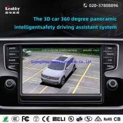 De hete Rearview Camera van de Auto van de Verkoop voor 3D Auto het Drijven & het Parkeren van 360 Graad het Panoramische Systeem van de Monitor met het Systeem van de Camera van de Mening van de Vogel en GPS Drijver/Navigatie