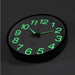 Печать логотипа черный пластиковый Quartz Настенные часы для интерьера
