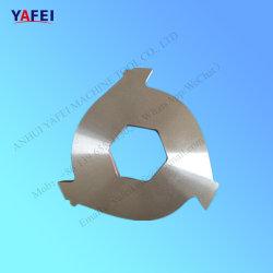 ペーパープラスチックゴム製タイヤのリサイクルのための2つのシャフトのシュレッダーの刃
