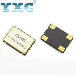 SMD 7050 de la unidad de Oscilador de cristal de 65.536MHz 1.8-3.3V