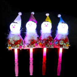 Leuchtender Stock des Schneemann-Sankt-Baum-Blitz-LED scherzt Kind-Spielzeug
