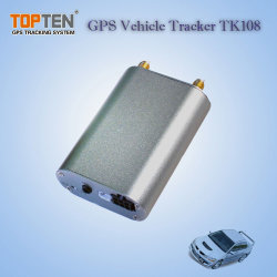 Rastreamento on-line o GPS TK108 Carro de Metal Tracker, bateria de backup dentro com choque Alarme, Motor de Corte Remoto (TK108-JU)
