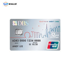 Gerecycled contact IC Smart Card blanco PVC-kaart/RFID blanco Grootte Visa-creditcard