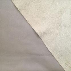 Hoogwaardig leer textuur suède achterkant PU Faux Leather Voor kleding Kleding kledingkleding jas Garment Pants rok