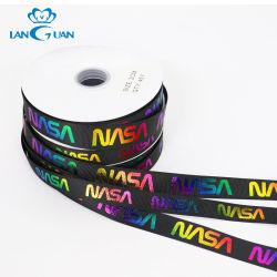 Regenbogen-buntes Funkeln-Druckenkundenspezifisches Grosgrain-Farbband für Tuch
