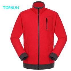 360GSM com espessura de duas camadas Micro velo polar jaqueta com manguito elásticas homens aqueça 100% poliéster Fleece Outwear