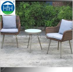 Patio Mobiliário de exterior Jardim Varanda As medulas sofá em vime Definir mesa e cadeira