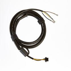 Cables de alimentación conector hembra de 4 posiciones de cableado con malla de protección de la ferrita fundas