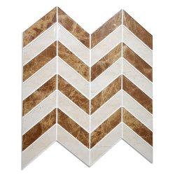 브라운 Mosaic Tile Waterproof Peel와 Wall를 위한 Stick Easy DIY Decoration