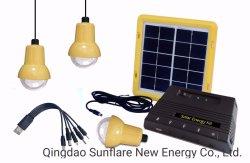 Portable 3 PCS lâmpadas LED Solar Portátil Kit Potência Sf-901s com USB para Celular gratuitamente
