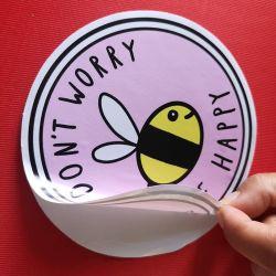 Sticker van het Document van het Etiket van de Afzet van de fabriek de Waterdichte Weerspiegelende Die-Cut Zelfklevende