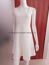 2019 neue Entwurfs-Form-Mädchen-weiße Fußleisten-Dame-Eleganz-Polyester-reine Farben-reizvolles Partei-Abschlussball-Frauen-Verband-Kleid-Kleid