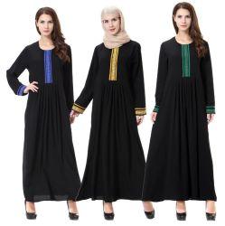 Мусульманские женщины платье Дубаи Abaya Kaftan с шарфом