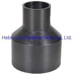 Переходный патрубок трубопровода высокого качества пластика HDPE соединения трубопровода редуктора PE стыковой Fusion переходный патрубок трубопровода подачи воды по стандарту DIN SDR пункта C 13.6 СПЗ17