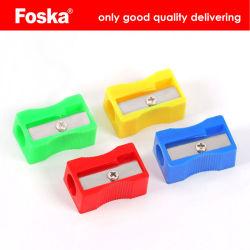 1 Agujero Foska afilador de lápiz de plástico con el embalaje del cuadro de Color