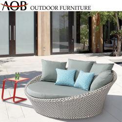 Удобные для любой погоды плетеной мебели в Саду Бали кушеткой для загара круглый кровать