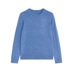 Comercio al por mayor de invierno Lana Merino Knit Pullover Hombres camiseta
