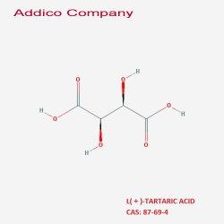 Het Wijnsteenzuur van Anti-oxyderend van het voedsel L van het Additief voor levensmiddelen (+) met Hoge Zuiverheid en sloeg Prijs